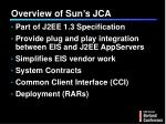 overview of sun s jca