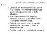 dramatizacion o role playing