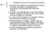 tormenta de ideas o brain storming