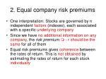 2 equal company risk premiums