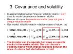 3 covariance and volatility