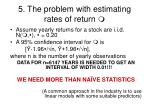 5 the problem with estimating rates of return1