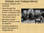 debate over independence