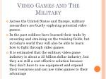 video games and the military