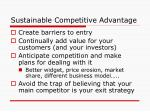 sustainable competitive advantage