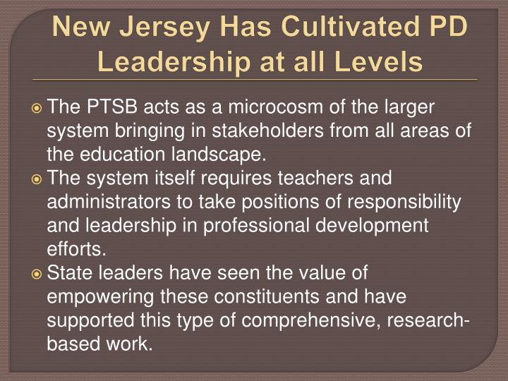 New Jersey Has Cultivated PD Leadership at all Levels