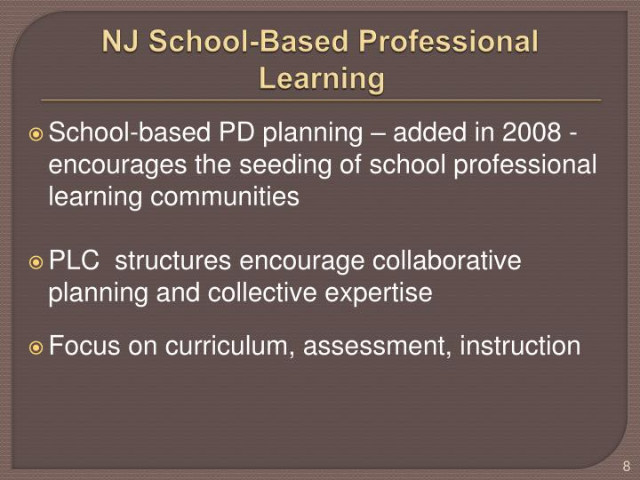 NJ School-Based Professional Learning