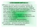 achievements and success