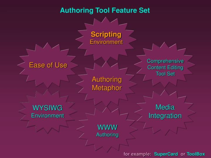 Authoring Tool Feature Set