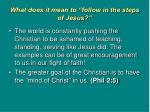 what does it mean to follow in the steps of jesus1