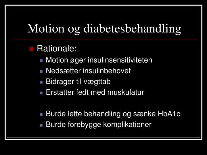 Motion og diabetesbehandling