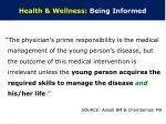 health wellness being informed
