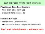just the facts private health insurance