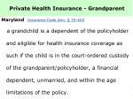 private health insurance grandparent