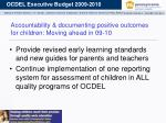 accountability documenting positive outcomes for children moving ahead in 09 10