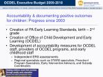 accountability documenting positive outcomes for children progress since 2003
