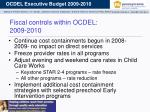 fiscal controls within ocdel 2009 2010