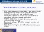 other education initiatives 2009 2010