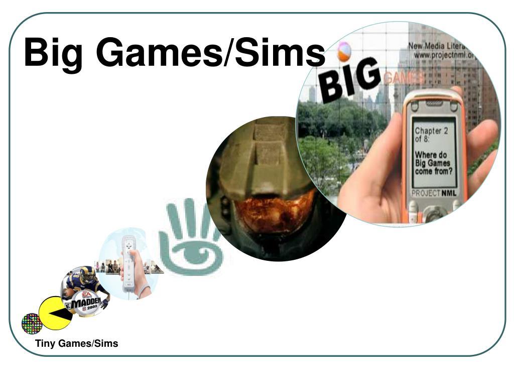 Big Games/Sims