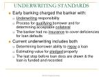 underwriting standards