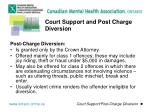 court support and post charge diversion