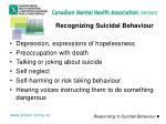 recognizing suicidal behaviour