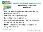 responding to suicidal behaviour