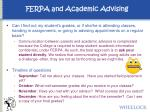 ferpa and academic advising