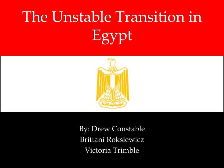 the unstable transition in egypt n.