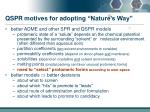 qspr motives for adopting nature s way2