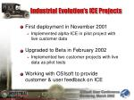 industrial evolution s ice projects