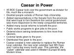 caesar in power