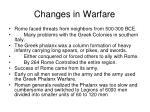 changes in warfare