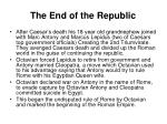 the end of the republic