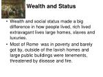 wealth and status
