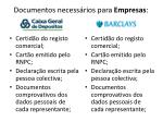 documentos necess rios para empresas