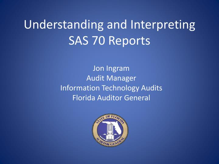 understanding and interpreting sas 70 reports n.