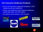 our consumer healthcare products