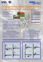 sorption of dissolved organic c and p to agricultural top and subsoil