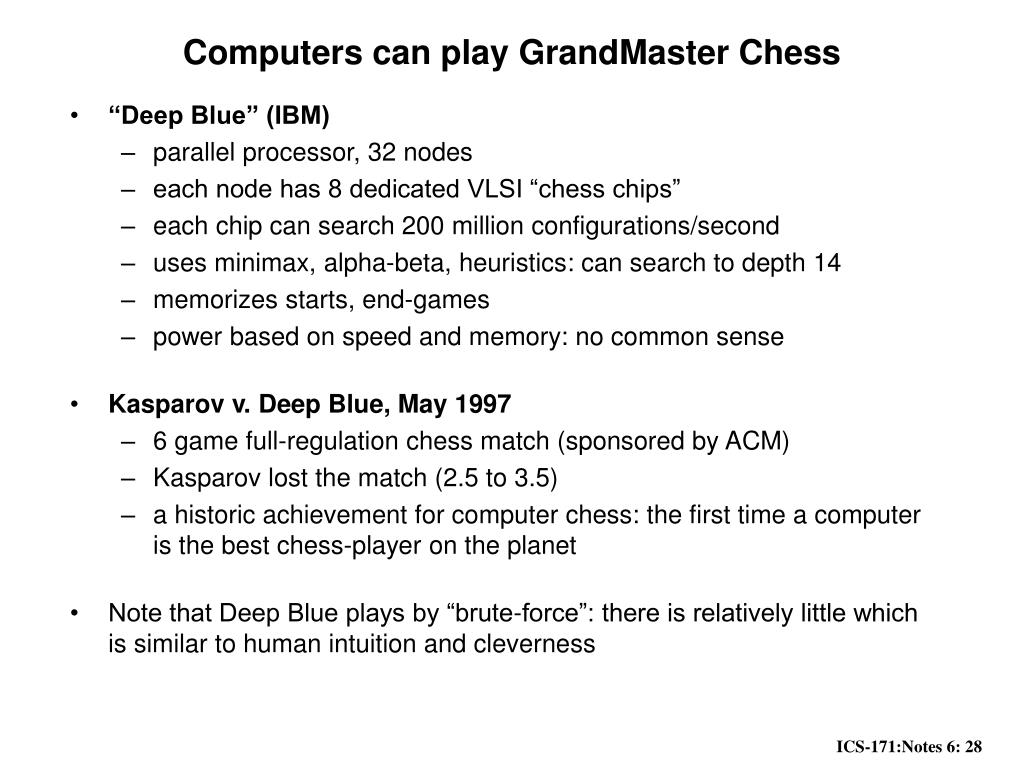 Computers can play GrandMaster Chess