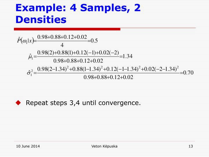 Example: 4 Samples, 2 Densities