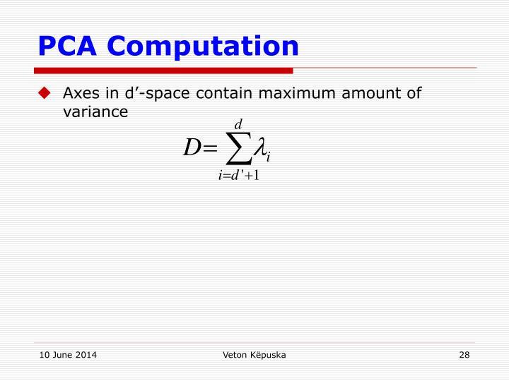PCA Computation