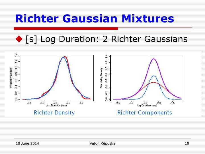 Richter Gaussian Mixtures