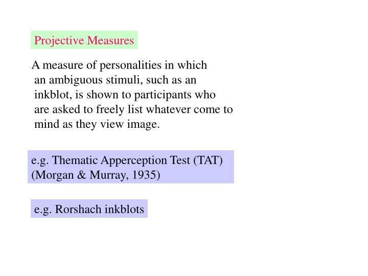 Projective Measures