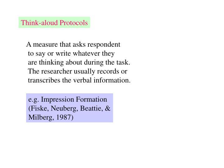 Think-aloud Protocols
