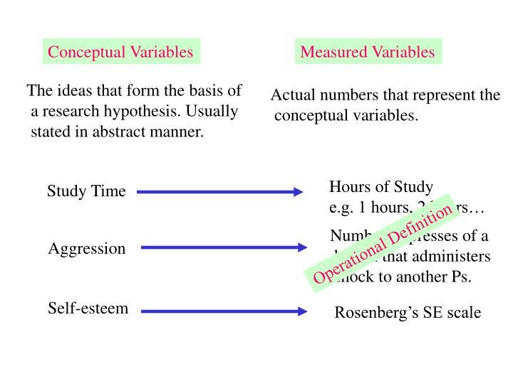 Conceptual Variables