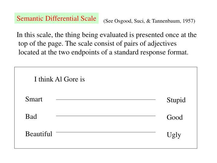 Semantic Differential Scale