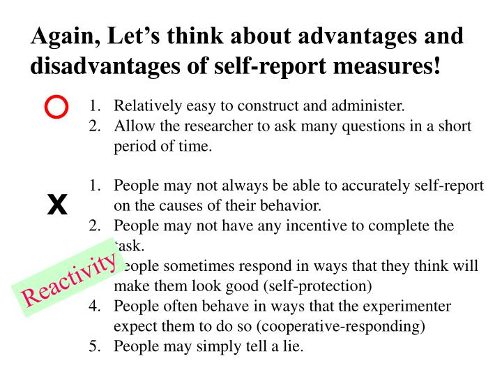 Again, Let's think about advantages and