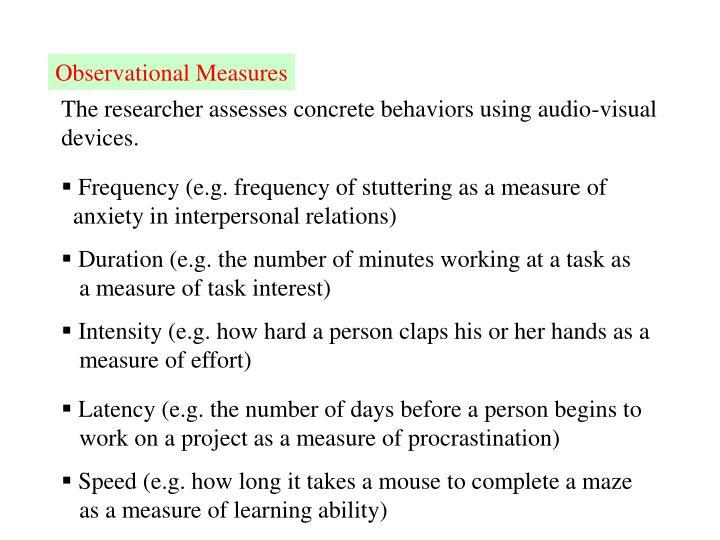Observational Measures