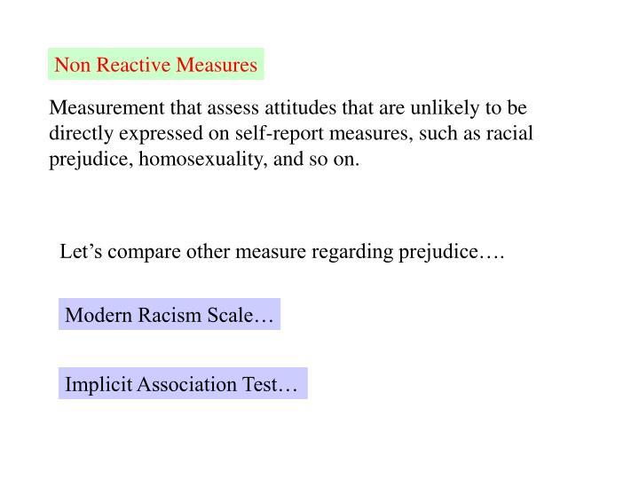 Non Reactive Measures